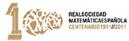 Logotipo del Centenario de la RSME